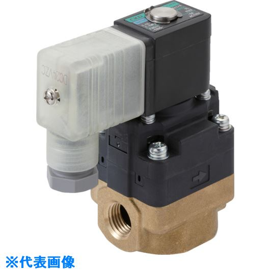 ■CKD 水用小形パイロット式電磁弁〔品番:FWD11-10A-D2C-AC100V〕[TR-8387882]