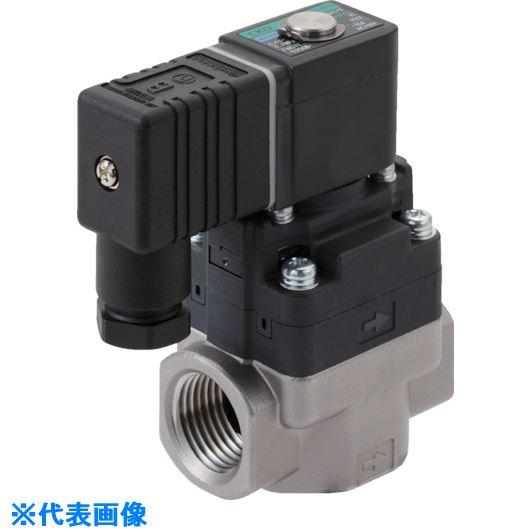 ■CKD 水用小形パイロット式電磁弁〔品番:FWD11-10A-D2GB-AC100V〕[TR-8387896]