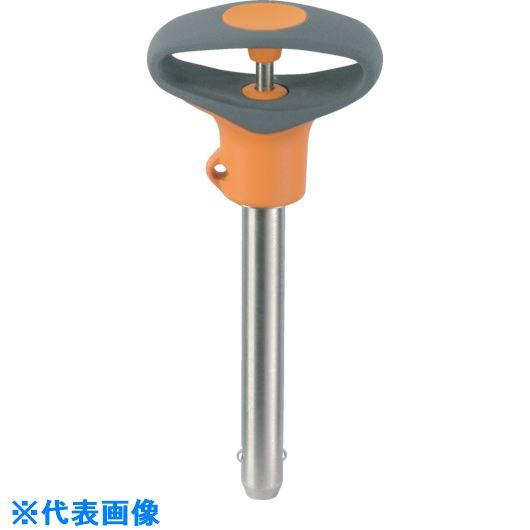 ■HALDER ボールロックピン セルフロッキング可塑性グリップ付 ピン径16ワーク最大厚45〔品番:22380.0789〕[TR-8488873]