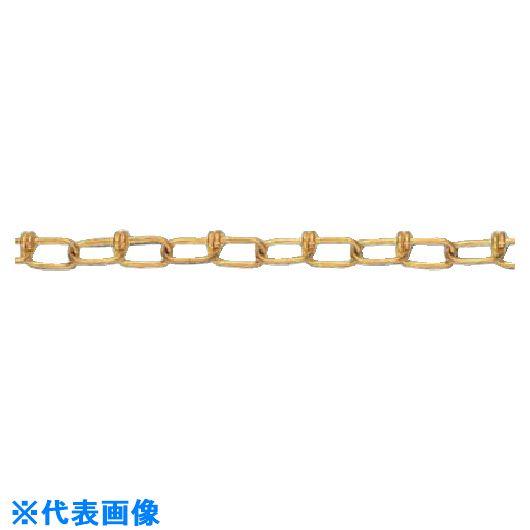 ■水本 黄銅ビクターチェーン(真鍮) 30M 線径2MM  〔品番:2.0-VBR〕取寄[TR-8490213]