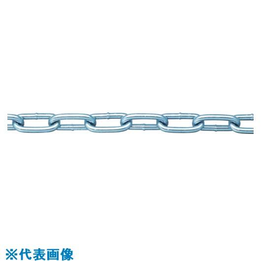 ■ニッサチェイン 鉄ユニクロ溶接リンクチェイン 4.8MM×30M〔品番:IW48 UC〕[TR-8490386]