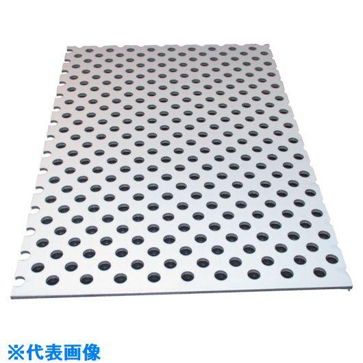 ■アルインコ アルミ複合板パンチ 3X1820X910 ホワイト〔品番:CG91P-02〕[TR-8494019]【大型・重量物・個人宅配送不可】