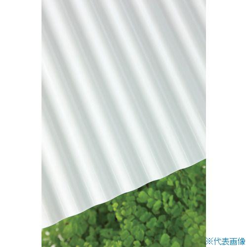 ■タキロン 塩ビ波板 32波 8尺 57乳白 10枚入 〔品番:211871〕直送[TR-8495576×10]【大型・重量物・送料別途お見積り】