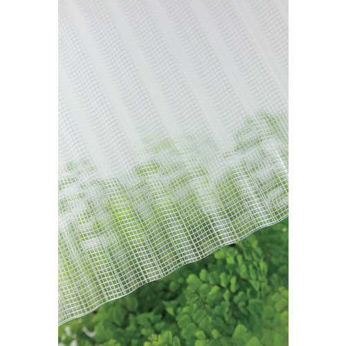 ■タキロン ガラスネット強化波板 32波 6尺 600クリア 10枚入 〔品番:212663〕直送[TR-8495582×10]【大型・重量物・送料別途お見積り】