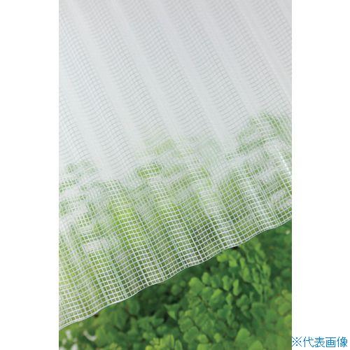 ■タキロン ガラスネット強化波板 32波 8尺 600クリア 10枚入 〔品番:212861〕直送[TR-8495586×10]【大型・重量物・送料別途お見積り】