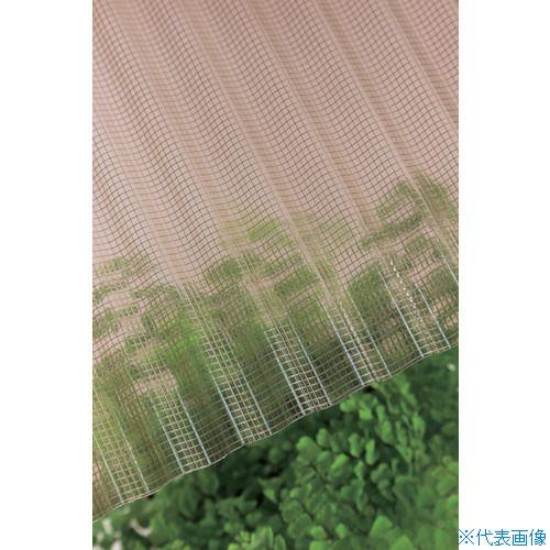 ■タキロン ガラスネット強化波板 32波 8尺 800ブラウンスモーク 10枚入 〔品番:212885〕直送[TR-8495587×10]【大型・重量物・送料別途お見積り】
