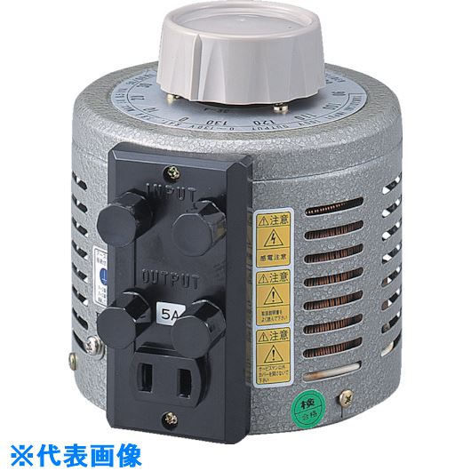?山菱 ボルトスライダー据置型 電圧計付 最大電流20A 入力電圧200V  〔品番:S-260-20M〕外直送元[TR-8500565]【大型・重量物・個人宅配送不可】