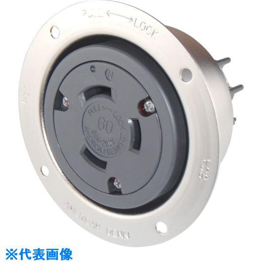 ■アメリカン電機 引掛形 フランジコンセント 3P60A250V〔品番:3626〕[TR-8501118]