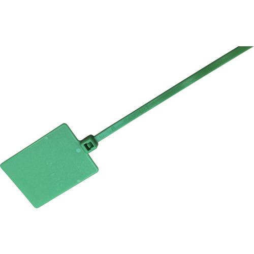 ■パンドウイット 旗型タイプナイロン結束バンド 緑 (1000本入)  〔品番:PLF1MA-M5〕[TR-8503813]