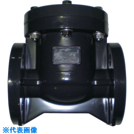 ■エスロン スイングチャッキ弁 PVC/EPDM JIS10Kフランジ50A〔品番:SCV50〕[TR-8506443]