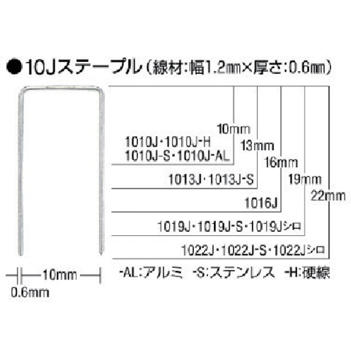 ■MAX ステープル硬線 肩幅10mm 長さ10mm 5000本入り《30箱入》〔品番:1010J-H〕[TR-8510989×30]【個人宅配送不可】