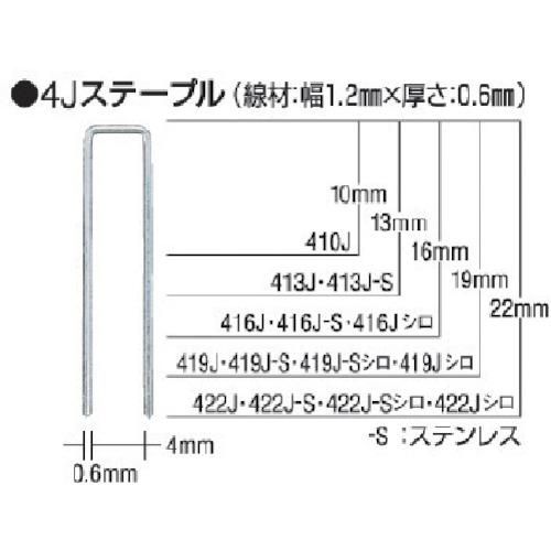 ■MAX タッカ用ステンレスステープル 肩幅4mm 長さ13mm 5000本入り《5箱入》〔品番:413J-S〕[TR-8510993×5]