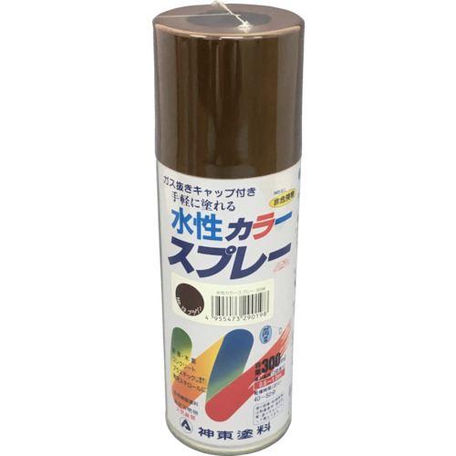 ■シントー 水性カラースプレー ブラウン 300ML 12缶入 〔品番:2919-0.3〕[TR-8511894×12]