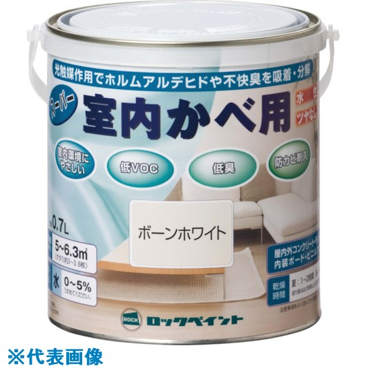 ■ロック スーパー室内かべ用 しろ 1.6L 6缶入 〔品番:H31-0501-6S〕[TR-8512269×6]