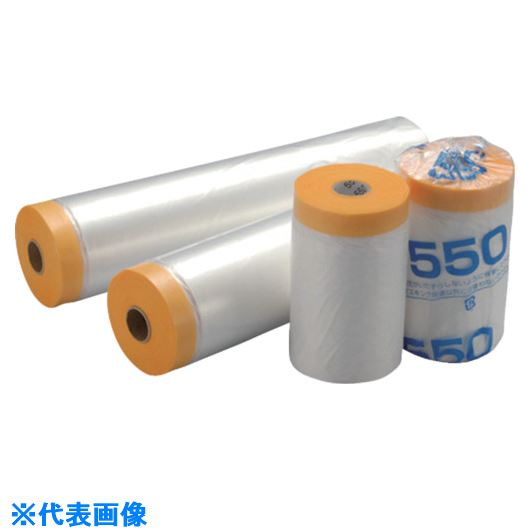 ■MF 和紙テープ付き養生マスカー 2400mm幅  (20巻入)〔品番:WM2400〕[TR-8512762]【個人宅配送不可】