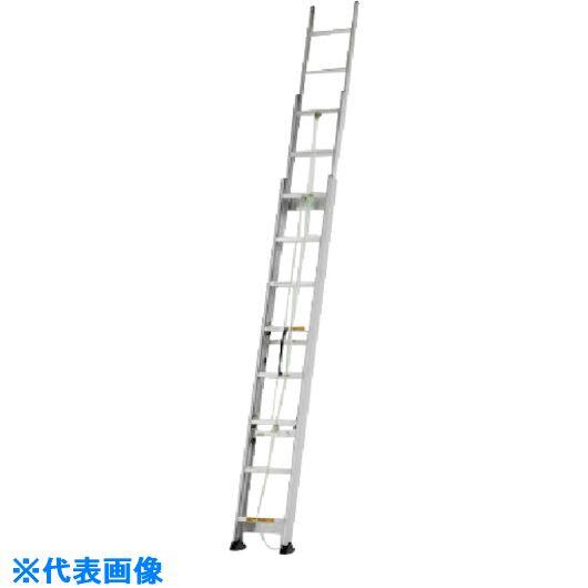 ■アルインコ サヤ管式三連梯子 全長3.37~8.06m 最大使用質量100kg〔品番:KHS80T〕[TR-8514769]【大型・重量物・個人宅配送不可】
