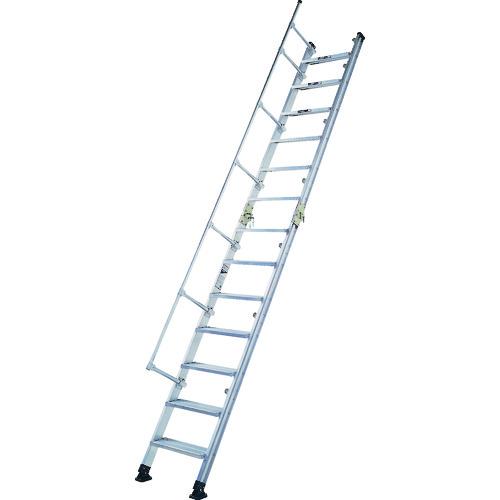 ■アルインコ 階段はしご 全長4.1M 最大使用質量150KG  〔品番:HC40〕[TR-8515055]【大型・重量物・送料別途お見積り】