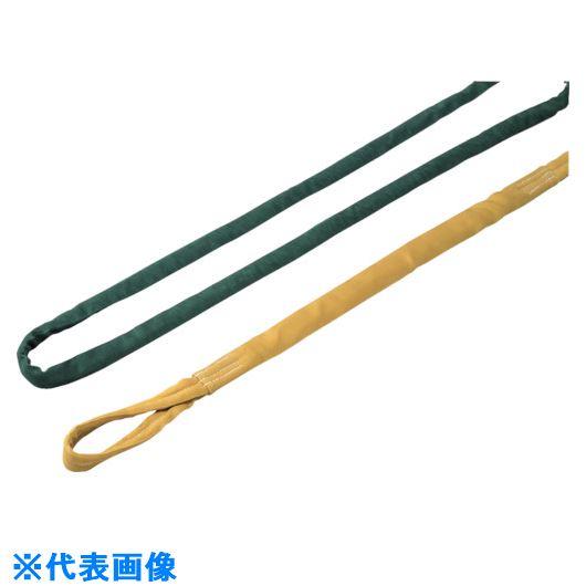 ■ロックスリング ソフター N 16T(緑 縫製タイプ 刺繍付)X4.0m〔品番:N16TX4.0〕[TR-8519009]【個人宅配送不可】