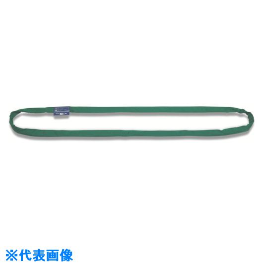 ■キトー ラウンドスリング(RE型) 10.0t 80mm幅 6.0m〔品番:RE100-60〕[TR-8519178]