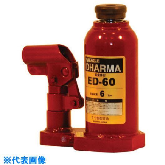 ■イーグル レバー回転油圧ジャッキ能力6T  〔品番:ED-60〕外直送[TR-8519887]