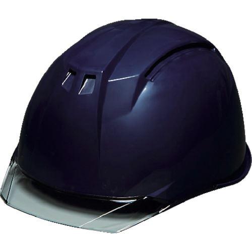 ■DIC AA11-C型ヘルメット 紺/スモーク KP 20個入 〔品番:AA11-C-K/S〕[TR-8537266×20]【個人宅配送不可】