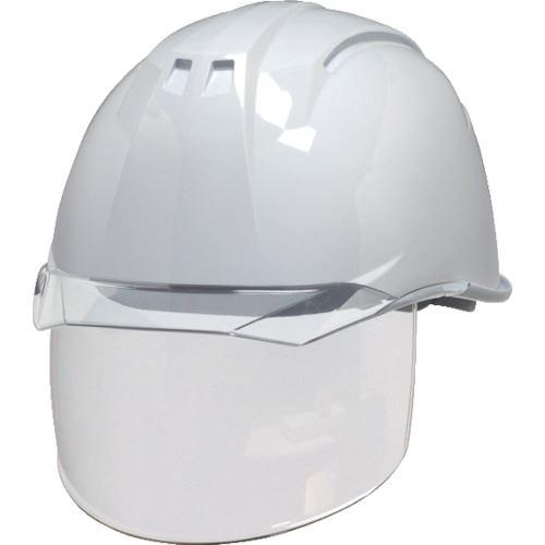 ■DIC AA11-CS型ヘルメット 白/クリア KP付 20個入 〔品番:AA11-CS-W/C〕[TR-8537270×20]【個人宅配送不可】