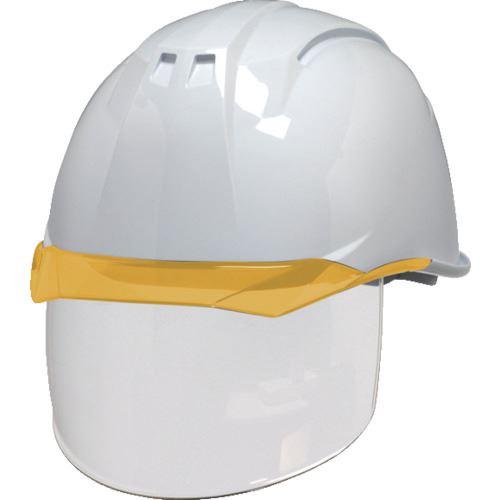 ■DIC AA11-CS型ヘルメット 白/オレンジ KP付 20個入 〔品番:AA11-CS-W/O〕[TR-8537275×20]【個人宅配送不可】