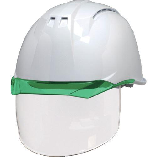 ■DIC AA11-CSW型ヘルメット 白/グリーン KP付 20個入 〔品番:AA11-CSW-W/G〕[TR-8537277×20]【個人宅配送不可】