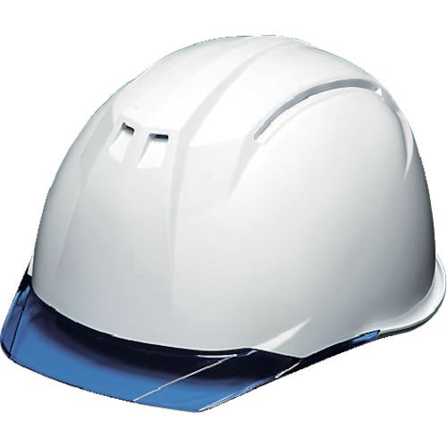■DIC AA11-C型ヘルメット 白/ブルー KP付 20個入 〔品番:AA11-C-W/B〕[TR-8537281×20]【個人宅配送不可】