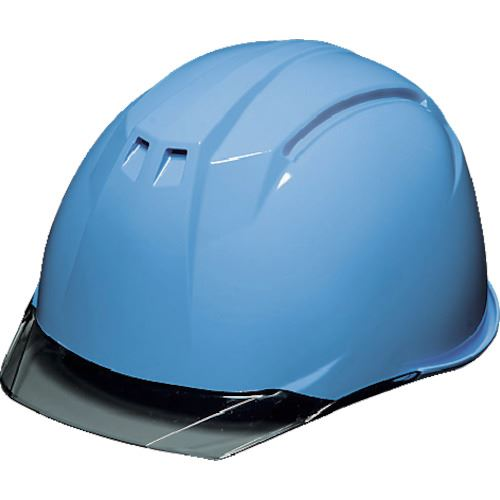 ■DIC AP11-C型ヘルメット アクアブルー/スモーク KP付 20個入 〔品番:AP11-C-AB/S〕外直送元[TR-8537288×20]【個人宅配送不可】