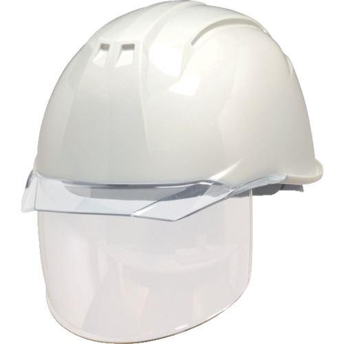 ■DIC AP11-CS型ヘルメット 白/クリア KP付 20個入 〔品番:AP11-CS-W/C〕[TR-8537293×20]【個人宅配送不可】
