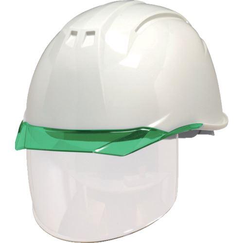 ■DIC AP11-CS型ヘルメット 白/グリーン KP付 20個入 〔品番:AP11-CS-W/G〕[TR-8537294×20]【個人宅配送不可】