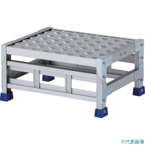 ■アルインコ 作業台(天板縞板タイプ)1段 天板寸法500×400mm高0.25m〔品番:CSBC125S〕[TR-8554828]