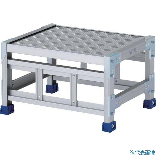 ■アルインコ 作業台(天板縞板タイプ)1段 天板寸法500×400mm 高0.3m〔品番:CSBC135S〕[TR-8554829]
