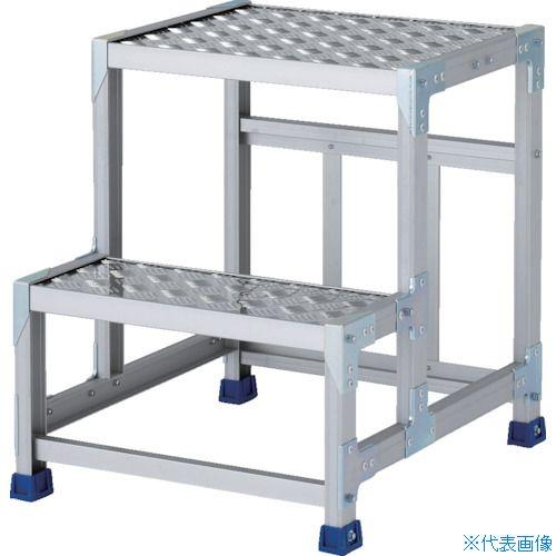 ■アルインコ 作業台(天板縞板タイプ)2段〔品番:CSBC265S〕[TR-8554831]【大型・重量物・個人宅配送不可】