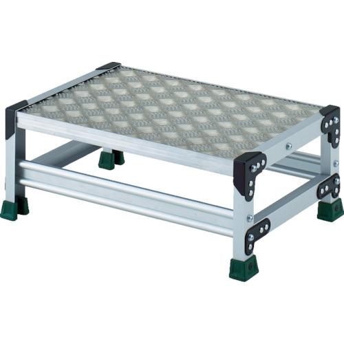 ■TRUSCO アルミ合金製作業台 縞鋼板 1段 高さ0.25M 600X400  〔品番:TSFC-1625〕[TR-8557681]