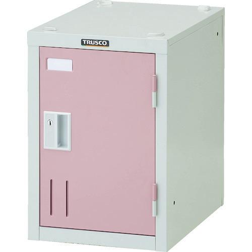 ■TRUSCO ミニロッカー 1人用 ピンク シリンダ錠式  〔品番:SHW1A-P〕[TR-8557807]
