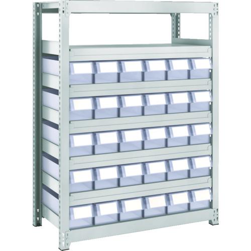 ■TRUSCO M2型軽中量棚 H1200 樹脂透明引出付 小X30  〔品番:M2-4347-C30〕[TR-8563186]【大型・重量物・個人宅配送不可】