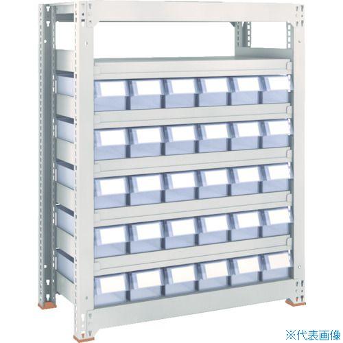 ■TRUSCO M3型中量棚 H1200 樹脂透明引出付 小X65  〔品番:M3-4657-C65〕[TR-8563278]【大型・重量物・個人宅配送不可】