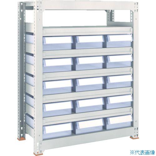 ■TRUSCO M3型中量棚 H1200 樹脂透明引出付 小X5大X30  〔品番:M3-4657-C5D30〕[TR-8563302]【大型・重量物・個人宅配送不可】