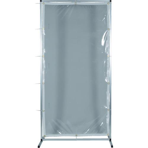 ■TRUSCO アルミ製衝立 透明防炎タイプ W1500XH1500〔品番:AF-1515-TM〕[TR-8563523]【大型・重量物】