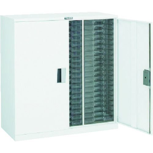■TRUSCO カタログケース 両開 浅型3列20段 W 825X395XH880  〔品番:A3C20D-W〕[TR-8566616]【大型・重量物・個人宅配送不可】
