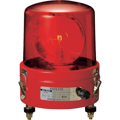 ■パトライト ブザー付き大型回転灯〔品番:SKLB-120A-R〕[TR-8568132]