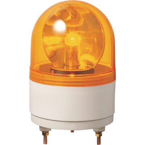 ■パトライト 小型回転灯  〔品番:RH-24A-Y〕取寄[TR-8568320]