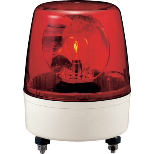 ■パトライト 中型回転灯 赤 R 〔品番:KP-200A-R〕取寄[TR-8568623]