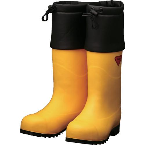 ■SHIBATA 防寒安全長靴 セーフティベアー#1001白熊(イエロー)〔品番:AC091-25.0〕[TR-8569197]