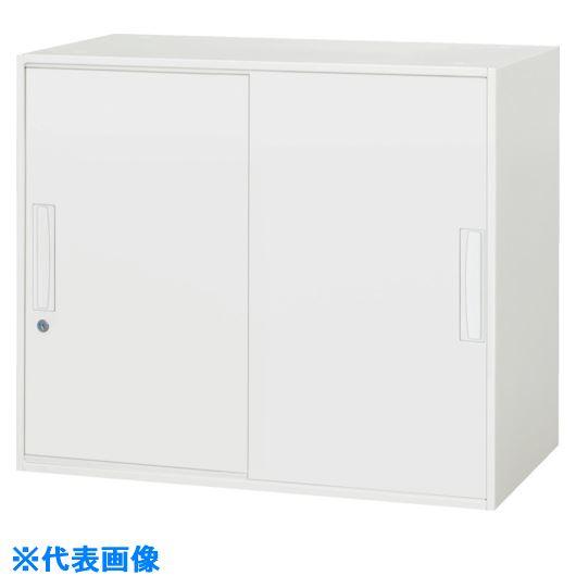■ダイシン 壁面収納庫 引戸型 上下兼用W800 ホワイト〔品番:V840-07S〕[TR-8569596]【個人宅配送不可】