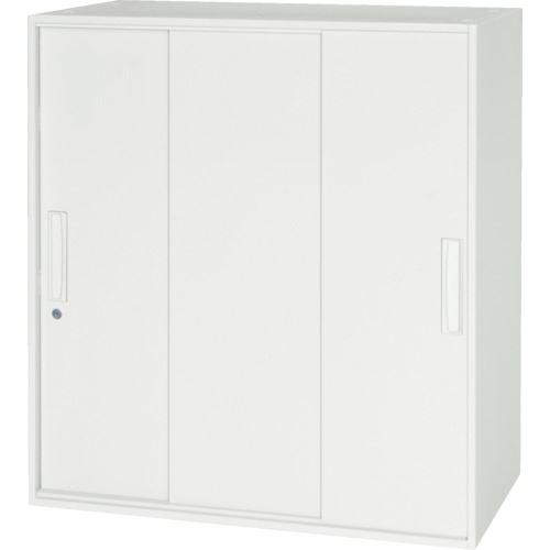 ■ダイシン 壁面収納庫 3枚引戸型 上下兼用W800 ホワイト〔品番:V845-09TS〕[TR-8569639]【個人宅配送不可】
