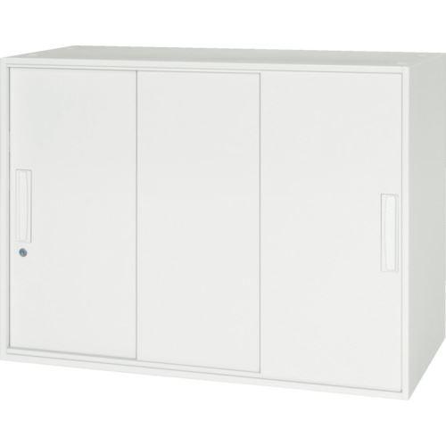 ■ダイシン 壁面収納庫 3枚引戸型 上下兼用D450 ホワイト  〔品番:V945-07TS〕[TR-8569778]【大型・重量物・個人宅配送不可】
