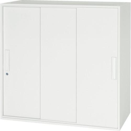 ■ダイシン 壁面収納庫 3枚引戸型 上下兼用D450 ホワイト  〔品番:V945-09TS〕[TR-8569786]【大型・重量物・個人宅配送不可】